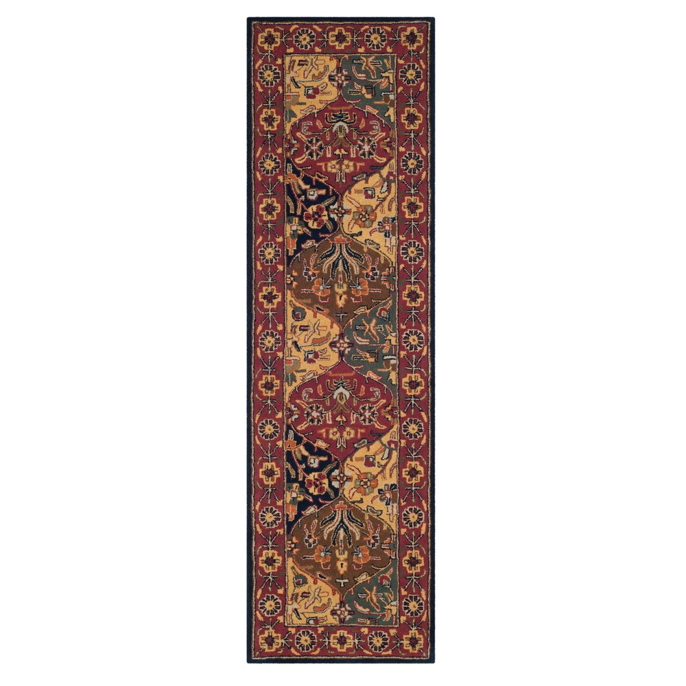 Floral Tufted Runner 2'3X10' - Safavieh, Multi-Colored/Blue