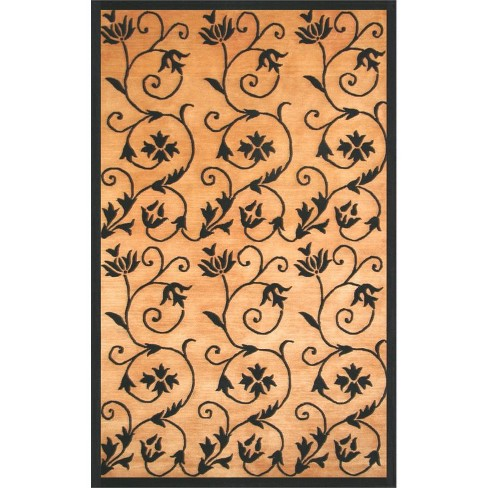 Aspen Hand-Knotted Gold-Black 8x10 Area Rug - Sam's International - image 1 of 1