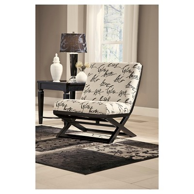 Elegant Levon Showood Accent Chair Charcoal   Signature Design By Ashley : Target