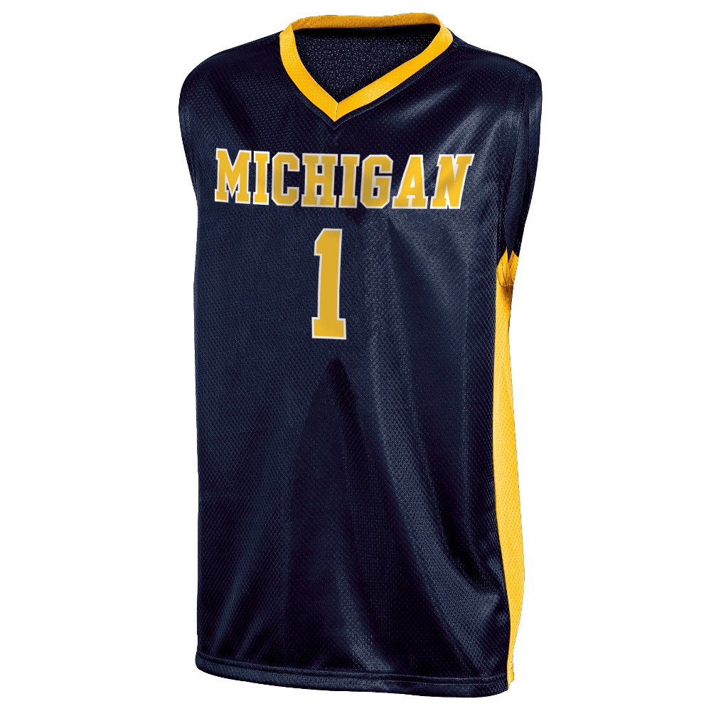 Michigan Wolverines Boys' Basketball Jersey XS, Multicolored