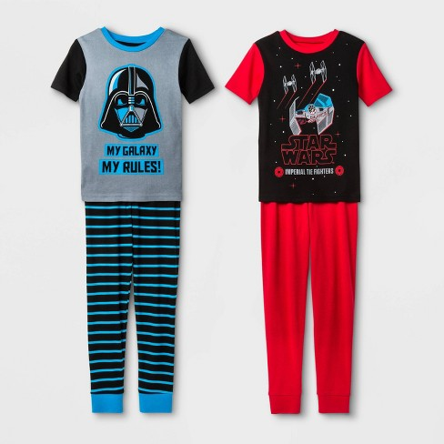 Boys/' Star Wars 2pc Pajama Set Green Size 4,6,10