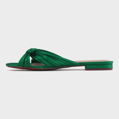 8a32ec0e7 Women s Grace Satin Knotted Slide Sandals - Who What Wear™   Target