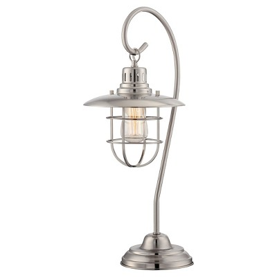 Lanterna II 1 Light Table Lamp (Includes Light Bulb) Silver - Lite Source