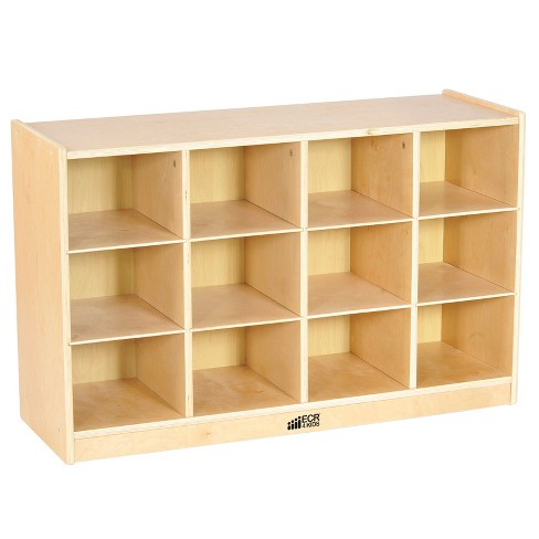 Ecr4kids 12 Cubby School Storage Cabinet Rolling Cabinet With Tray Slots Target