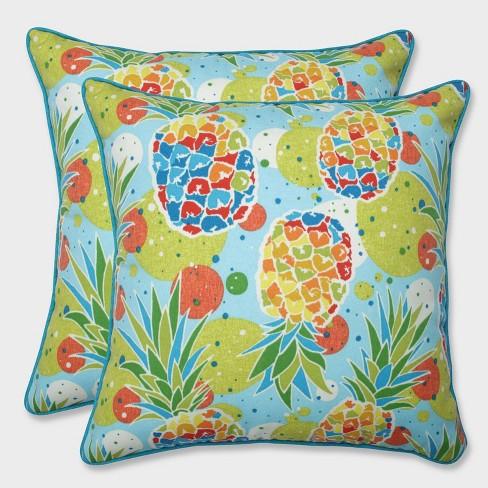 "18.5"" 2pk Hala Kahiki Tropic Throw Pillows Blue - Pillow Perfect - image 1 of 4"