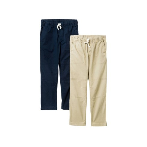 Boys' 2pk Stretch Straight Fit Pull-On Woven Pants - Cat & Jack™ Navy - image 1 of 2