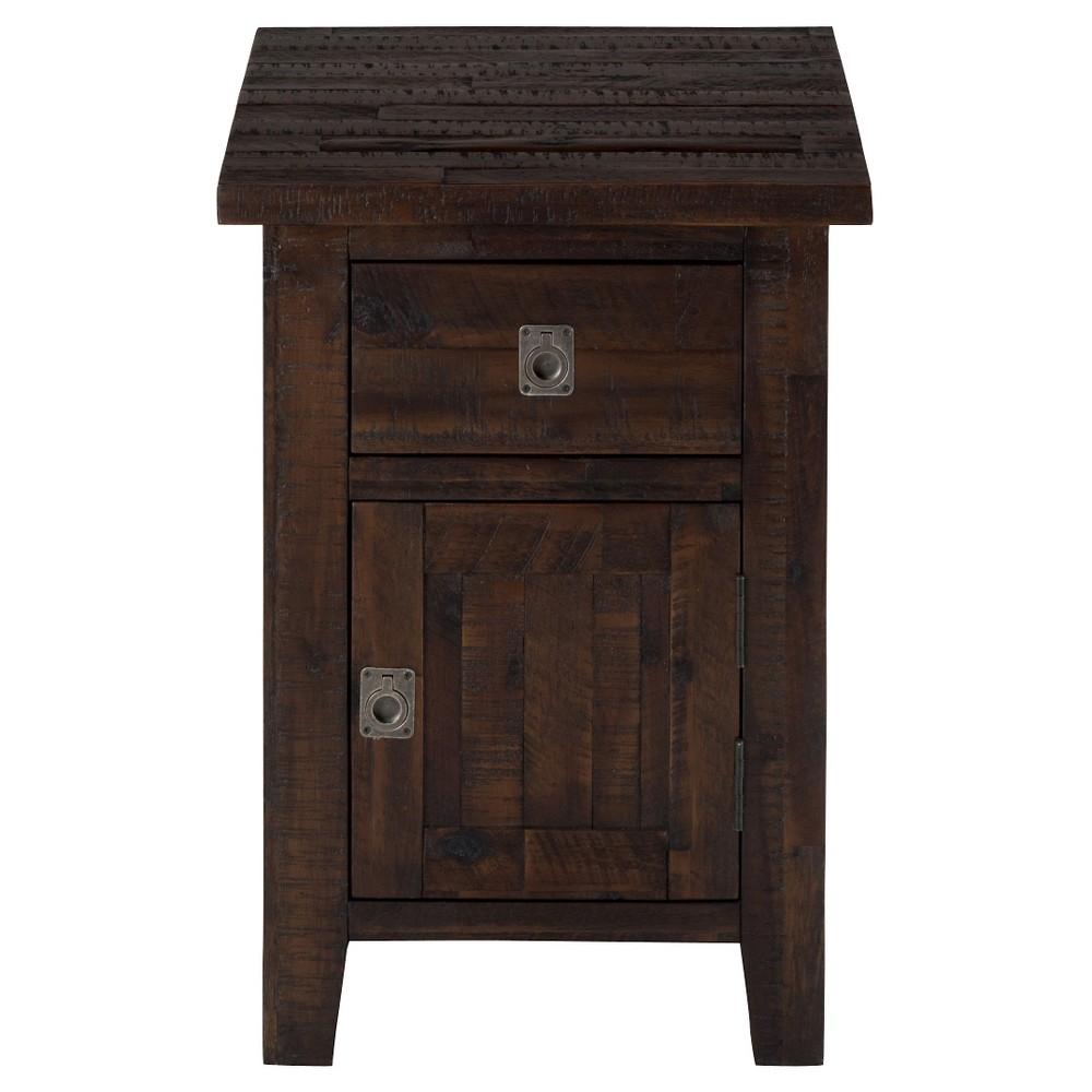 Kona Grove Cabinet Chairside Table Chocolate Brown - Jofran Inc.