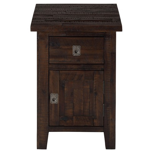 Kona Grove Cabinet Chairside Table Chocolate Brown - Jofran Inc. - image 1 of 3