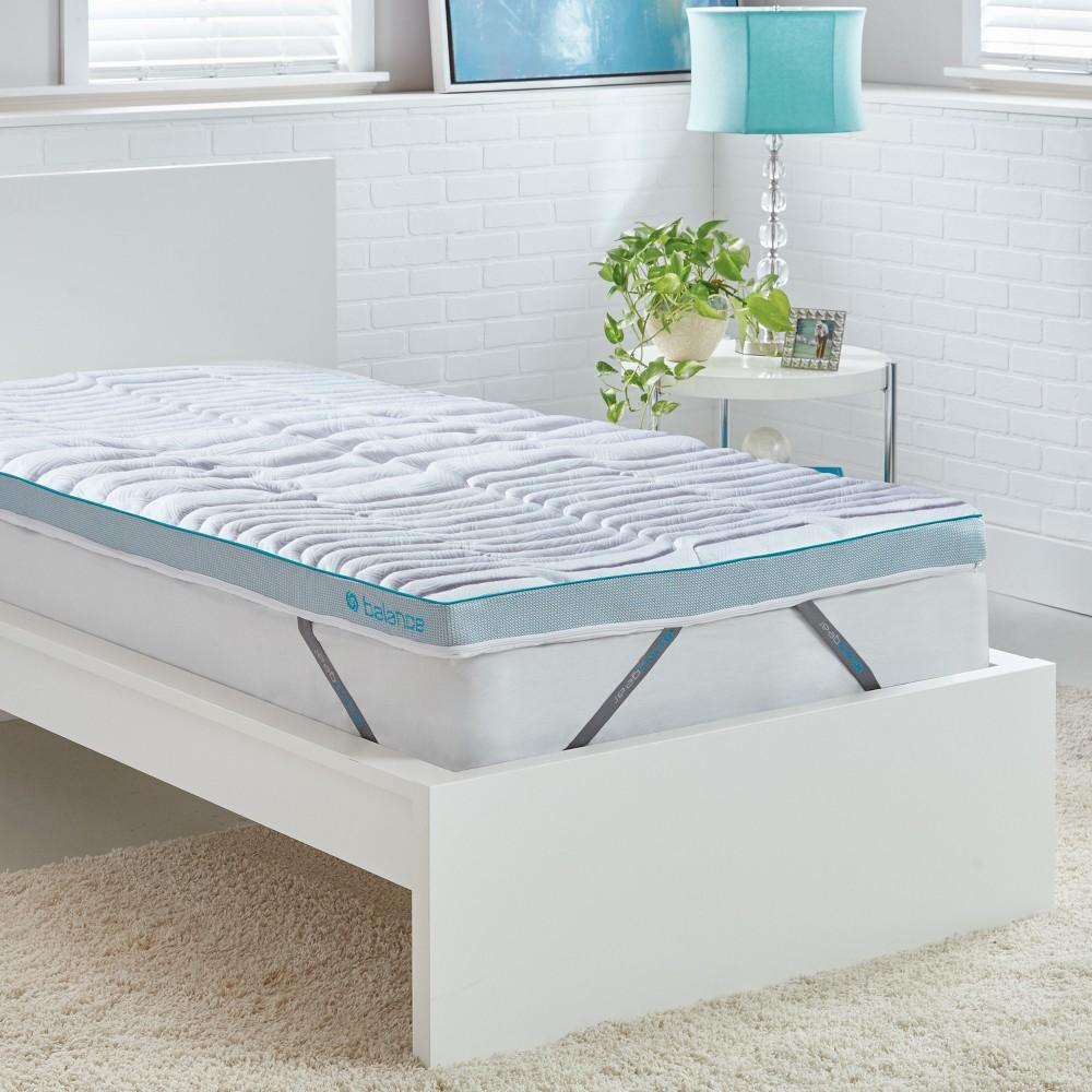 Image of Balance Dri-Tec 2 Boost Mattress Topper (Full) - Bedgear, White