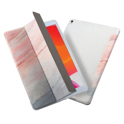 """Insten Tablet Case Compatible with iPad 10.2"""" 8th & 9th Generation, Multifold St&, Magnetic Cover Auto Sleep/Wake, Shock Resistant, Pink Marble"""