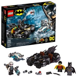 LEGO DC Comics Super Heroes Batman Mr. Freeze Batcycle Battle 76118 Toy Motorcycle Building Set 200pc