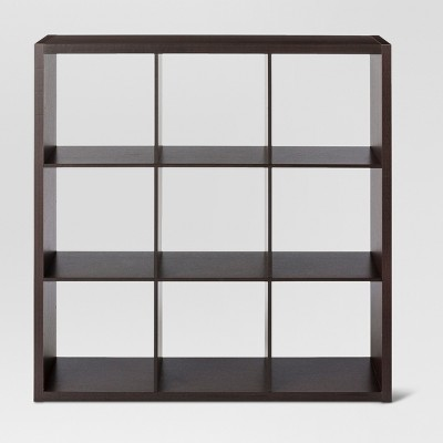 "13"" 9 Cube Organizer Shelf Espresso Brown - Threshold™"