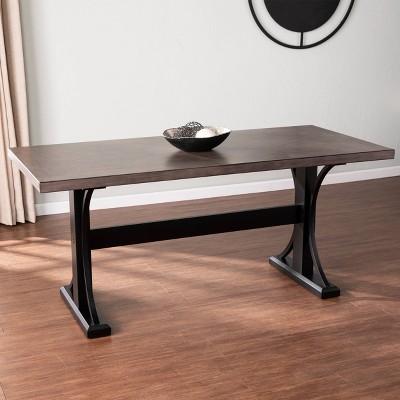 Lomree Rectangular Dining Table Black/Gray - Aiden Lane