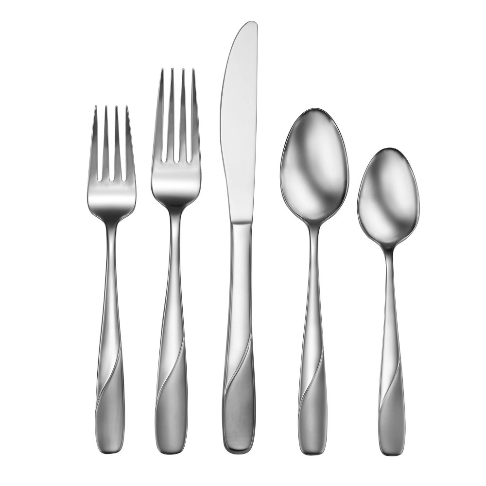 Image of 20pc Stainless Steel Satin Abel Silverware Set - Studio Cuisine