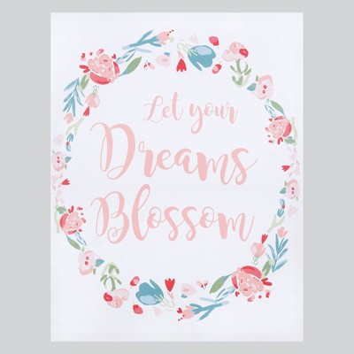 Trend Lab Unframed Wall Canvas Let Your Dreams Blossom