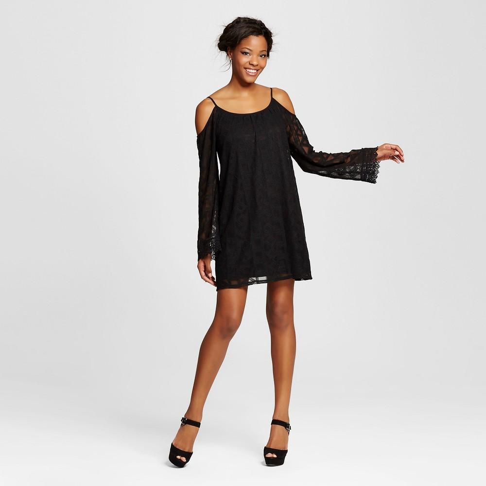 Women's Cold Shoulder Dress - Xhilaration (Juniors'), Size: XL, Black