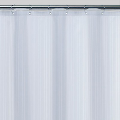 Damask Fabric Shower Liner - White - Threshold™