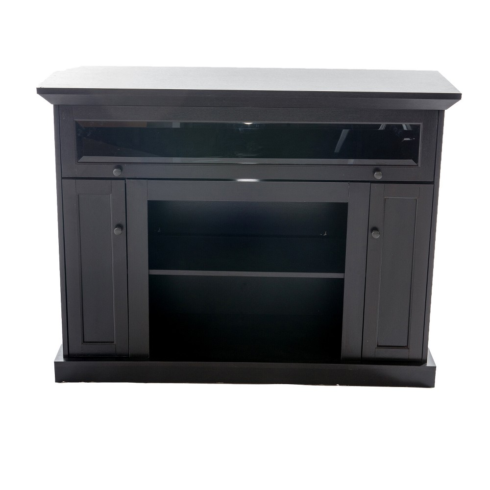 """Image of """"48"""""""" Wood TV Stand Convertible To Fireplace Dark Brown - Home Source Industries"""""""