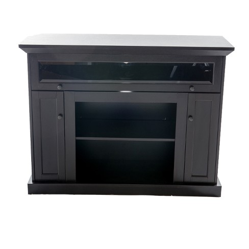 "48"" Wood TV Stand Convertible To Fireplace Dark Brown - Home Source Industries - image 1 of 7"