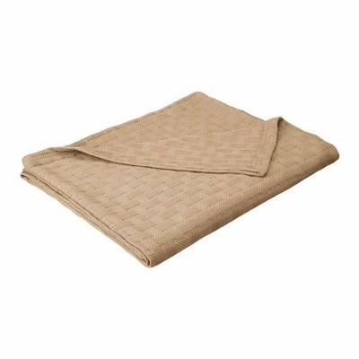 eLuxury Basket Weave Cotton Blanket