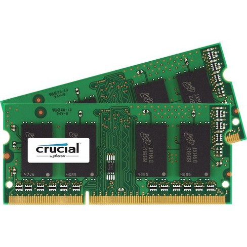 Crucial 16GB (2 x 8 GB) DDR3 SDRAM Memory Module - For Notebook - 16 GB (2 x 8 GB) - DDR3-1600/PC3-12800 DDR3 SDRAM - CL11 - 1.35 V - Non-ECC - image 1 of 1