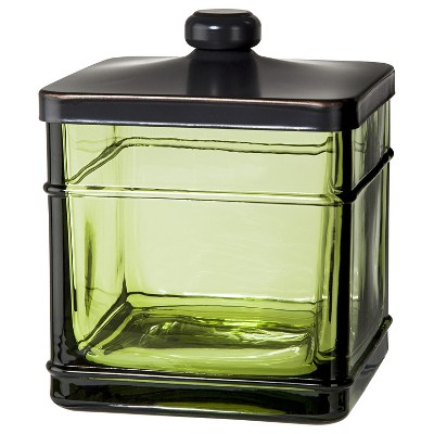 Antique Glass Bath Canister Green - Threshold™