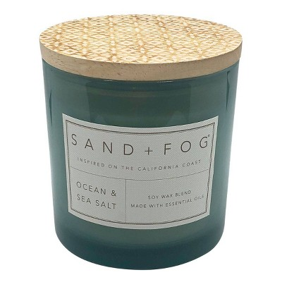 25oz Ocean and Sea Salt Scented 3-Wick Candle - Sand + Fog