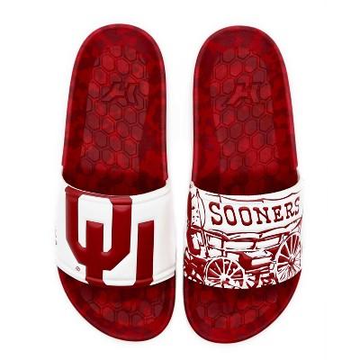 NCAA University of Oklahoma Sooners Embossed Slide Sandals Women's
