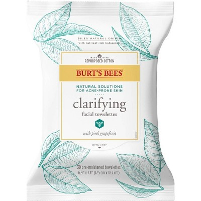 Burt's Bees Oily & Acne Prone Skin Facial Cleansing Towelettes - 30ct