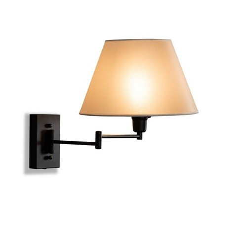 Klasina Metal Swing Arm Wall Sconce Lamp Black - Baxton Studio - image 1 of 3
