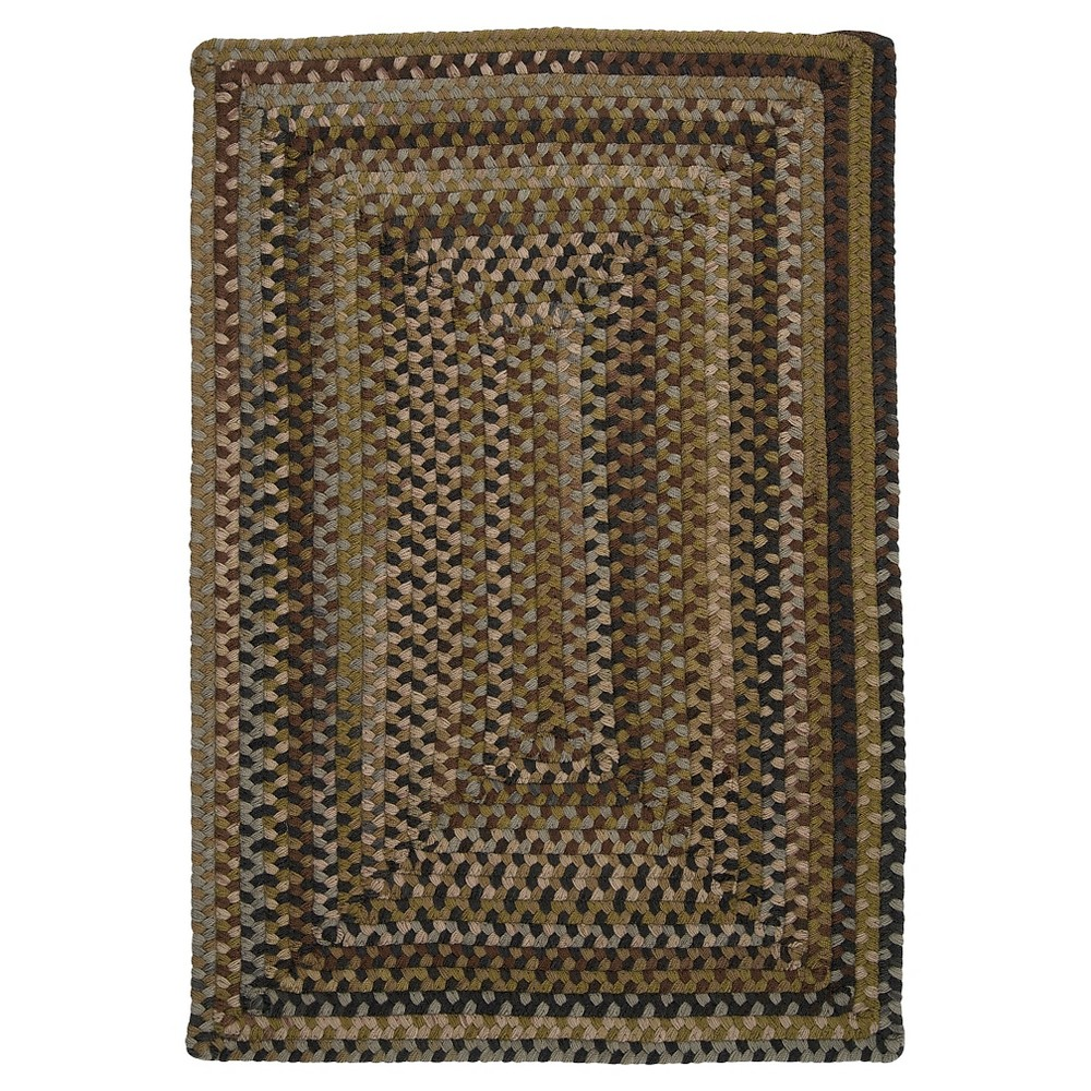 Ridgevale Spacedye Wool Braided Accent Rug - Grecian Green - (3'x5') - Colonial Mills