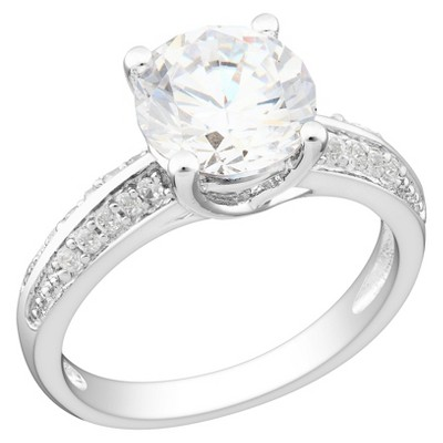 3.86 CT. T.W. Cubic Zirconia Engagement Ring in Sterling Silver