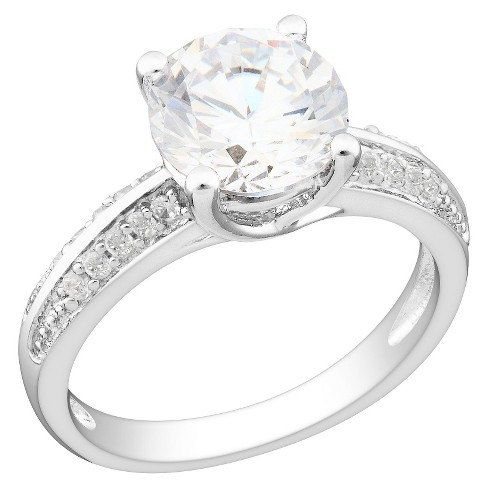 3.86 CT. T.W. Cubic Zirconia Engagement Ring in Sterling Silver - image 1 of 1