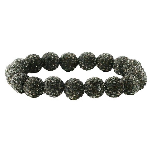 Women's Zirconite 10mm Colored Crystal Fireballs Stretch Bracelet - image 1 of 1