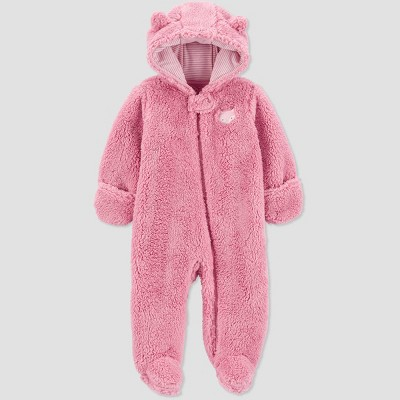 Baby Girls' Fox Pram Jacket - Just One You® made by carter's Pink 3M