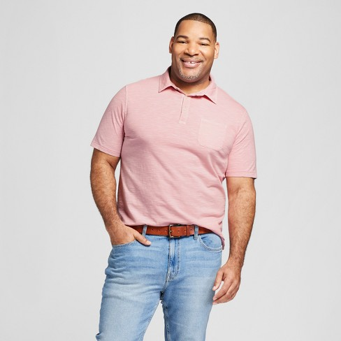 95bf8158 Men's Big & Tall Standard Fit Short Sleeve Solid Jersey Polo Shirt -  Goodfellow & Co™ : Target