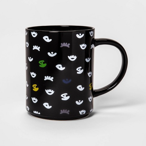 46oz Stoneware Eyes Print Mug Black - Room Essentials™ - image 1 of 1
