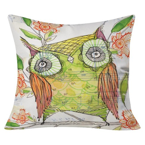 "Lime Cori Dantini Little Olive Throw Pillow (20""x20"") - Deny Designs® - image 1 of 3"