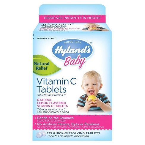 Hyland's Baby Vitamin C Quick-Dissolving Tablets - Lemon - 125ct - image 1 of 1