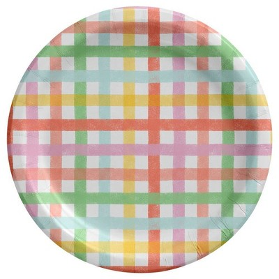 20ct Dinner Easter Plate Gingham Collection - Spritz™