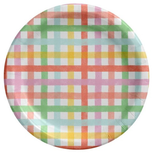 20ct Dinner Easter Plate Gingham Collection - Spritz™ - image 1 of 1