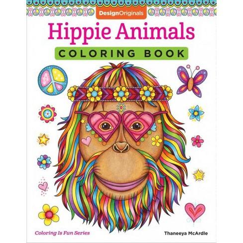 Hippie Animals Coloring Book Paperback Thaneeya Mcardle Target
