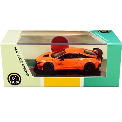 BMW i8 Liberty Walk Orange 1/64 Diecast Model Car by Paragon