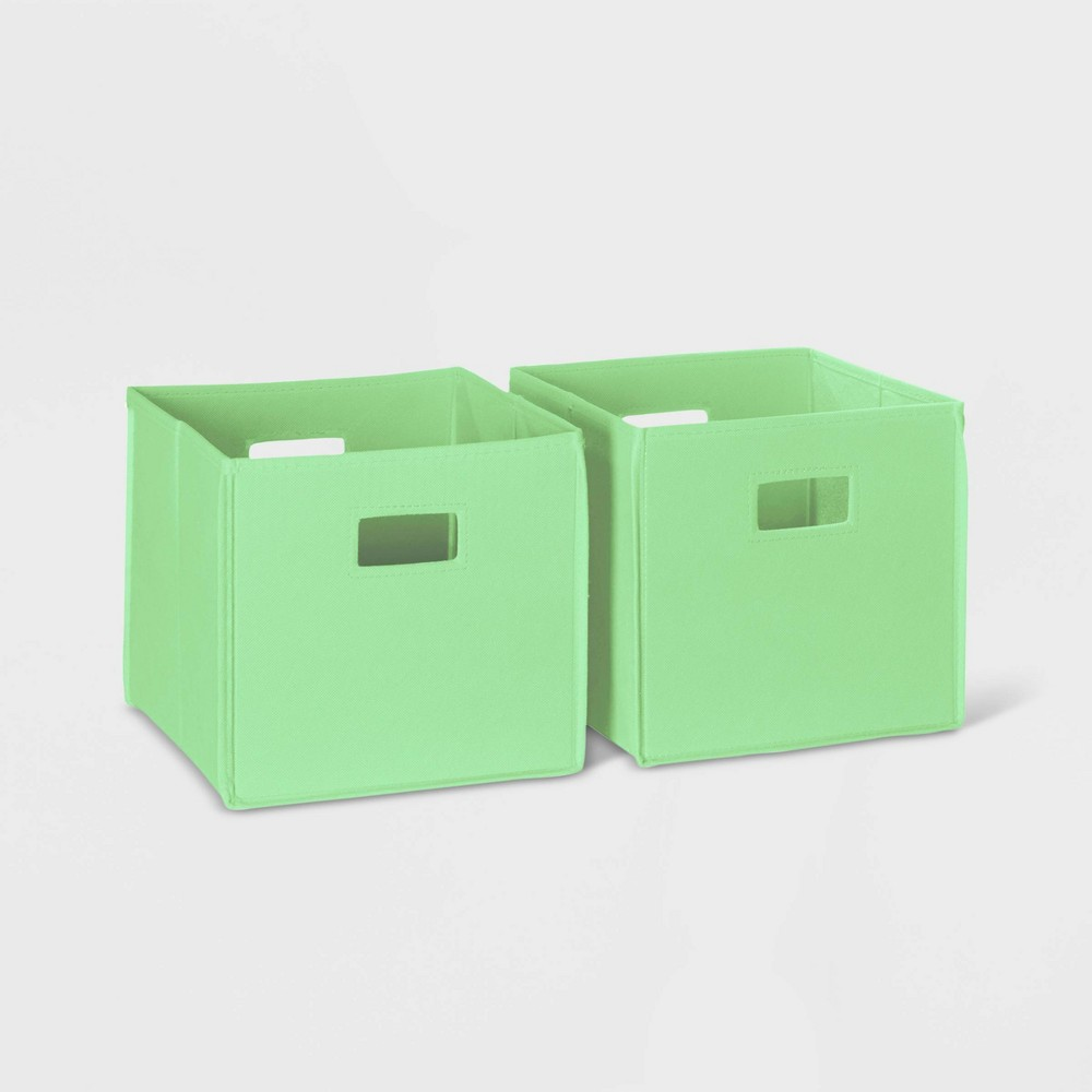 Image of 2pc Folding Storage Bin Set Mint - RiverRidge