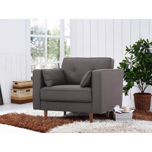 Outstanding Tatiana Mid Century Modern Armchair Lifestyle Solutions Machost Co Dining Chair Design Ideas Machostcouk