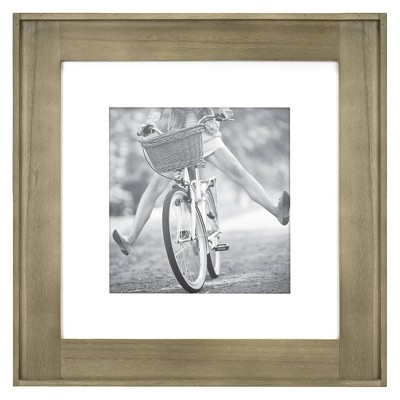 12  x 12  Photo Plank Wood Wall Frame Brown - Threshold™