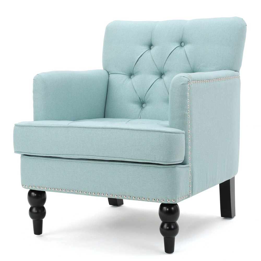 Malone Club Chair - Light Blue - Christopher Knight Home