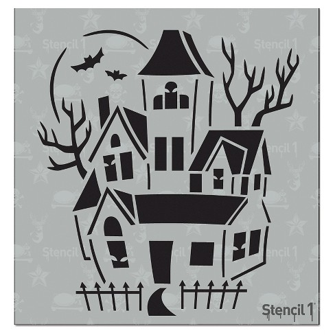 "Stencil1® Haunted House - Stencil 5.75"" x 6"" - image 1 of 3"