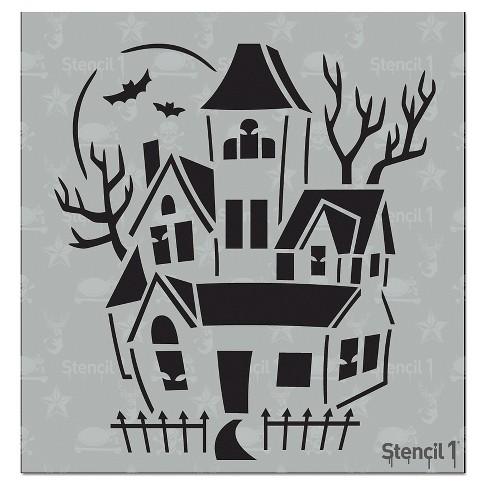 "Stencil1 Haunted House - Stencil 5.75"" x 6"" - image 1 of 3"
