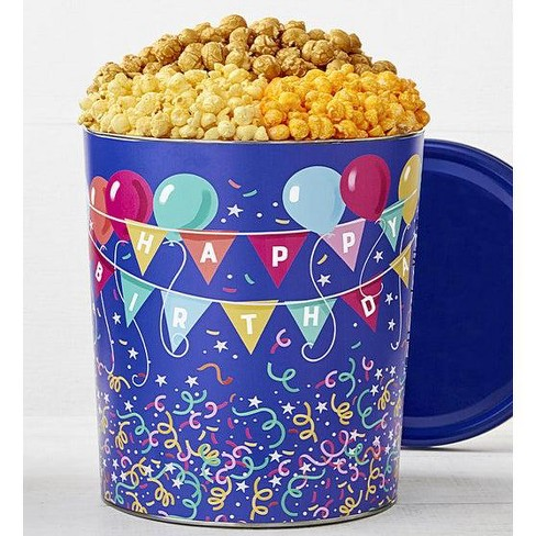 The Popcorn Factory Gift Tin, Birthday Balloon, 3.5 Gallons (Robust Cheddar, Butter, Caramel) - image 1 of 1